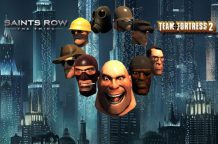Le maschere di TF2 in Saint's Row: the Third