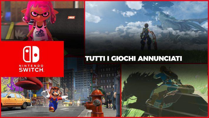 Nintendo Switch, tutti i giochi annunciati