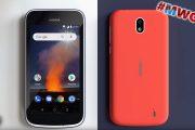 Nokia 1: smartphone economico con Android Go e cover intercambiabili – MWC 18