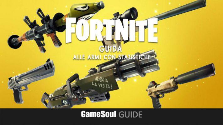 Fortnite: Battle Royale – Guida alle Armi con statistiche