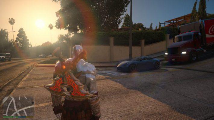 C'è Kratos in GTA V e non è una buona notizia per Los Santos