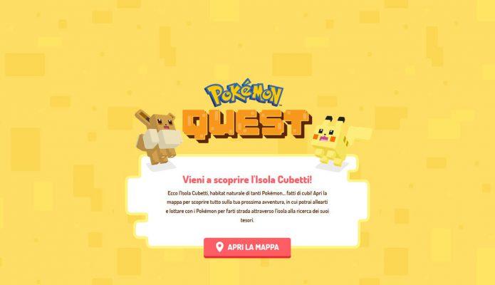 Pokémon Quest: disponibile ora il mondo Pokémon a cubetti