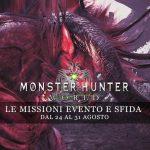 Monster Hunter: World – Le missioni evento e sfida dal 24 al 31 agosto