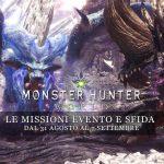 Monster Hunter: World – Le missioni evento e sfida dal 31 agosto al 7 settembre