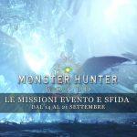 Monster Hunter: World – Le missioni evento e sfida dal 14 al 21 settembre