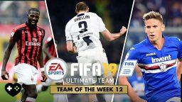 FIFA Ultimate Team – TOTW 12 – La Squadra della Settimana 12