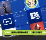 Come ripristinare le licenze PS4 - Tutorial