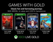 Games With Gold: i giochi gratuiti di novembre 2019