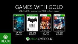 Games With Gold, i giochi gratuiti di gennaio 2020