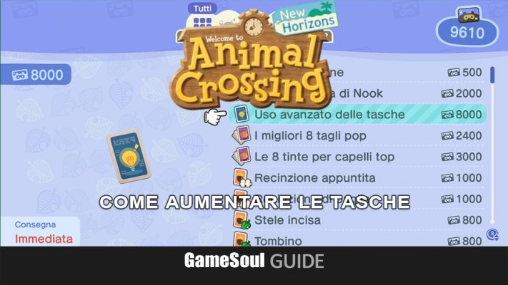 Animal Crossing: New Horizons – Come espandere l'inventario