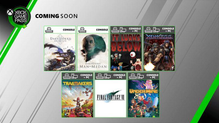 Xbox Game Pass, tra i giochi di agosto Darksiders Genesis e Man of Medan