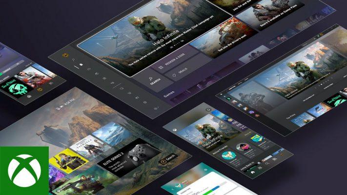 Xbox Series X dashboard interfaccia