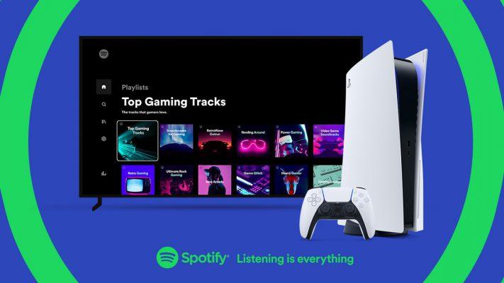 PS5 Spotify