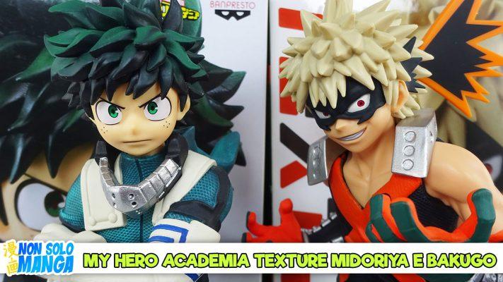 My Hero Academia Texture Midoriya e Bakugo – Banpresto