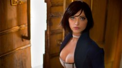 Una cosplayer nel box art ufficiale di BioShock: Infinite