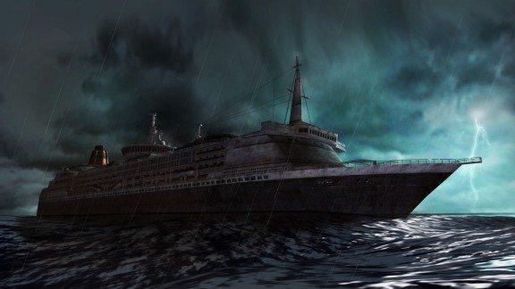 La Queen Zenobia, di fatto l'ambientazione principale di questo Resident Evil.