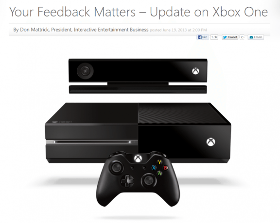 Your Feedback Matters – Update on Xbox One