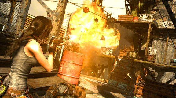 Texture più definite ed esplosioni più spettacolari, anche questo è Tomb Raider: Definitive Edition.