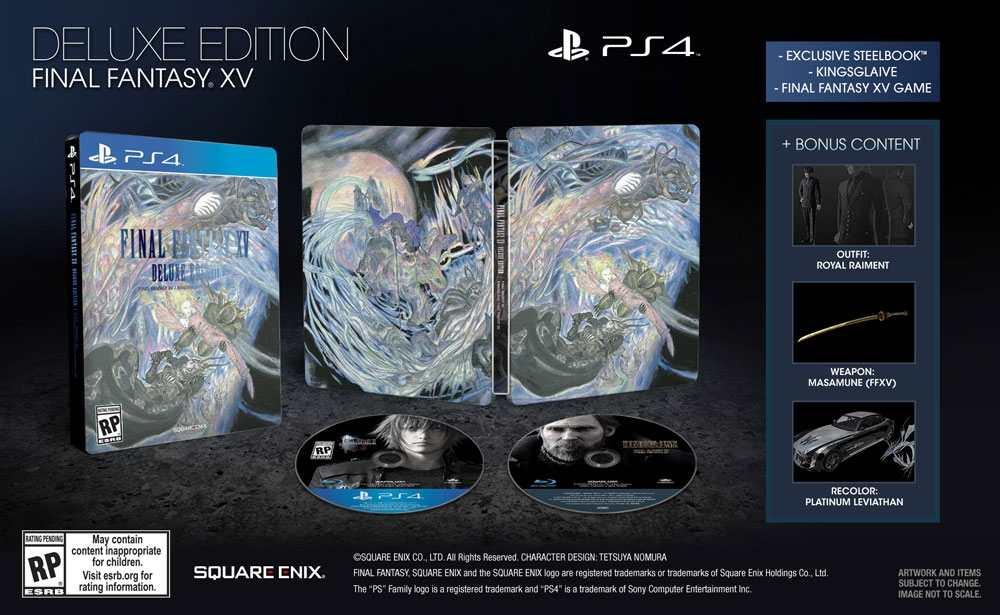 Final-Fantasy-XV-steelbook edition
