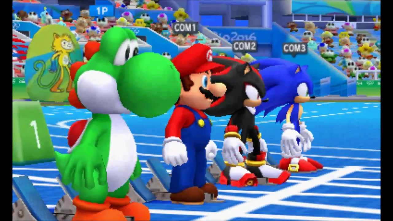 Mario e Sonic ai Giochi Olimpici di Rio 2016 start