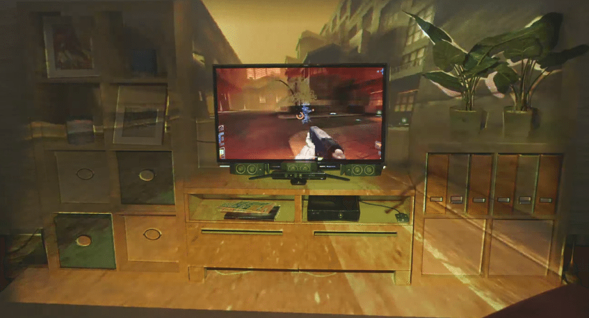 IllumiRoom Projects Images Beyond Your TV for an Immersive Gaming Experience - YouTube