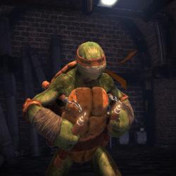 TMN Turtles- Usciranno dall'ombra: un trailer presenta Michelangelo
