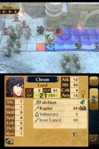 Sullo schermo tattile troveremo tante utili info sui nostri guerrieri o sugli avversari