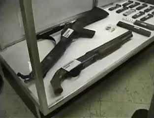 L'arsenale di Erik Harris, non si è rinvenuto alcun BFG9000, solo armi in vendita senza alcun controllo