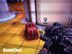 Bottiglia d'oro - procedete fino a superare le scale mobili. Nella stanza successiva con i cartelli gialli ed i tre soldati, troverete sulla destra una valigia rossa; dietro la valigia si trova la bottiglia.