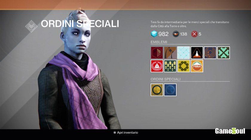 Destiny - Dove riscattare gli Emblemi e gli Shader gratis