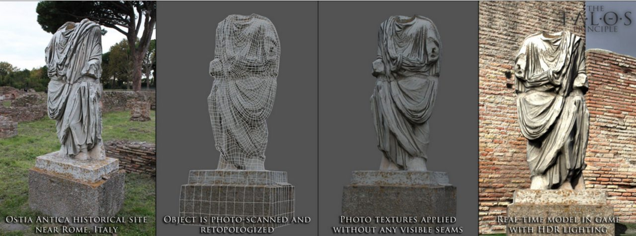 la tecnica denominata Fotogrammetria. La ricostruzioen di Ostia Antica è praticamente perfetta!