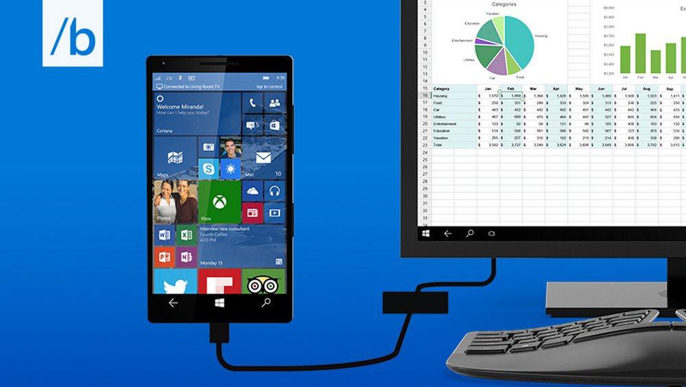 2da48e7155d26 Con Windows 10 lo smartphone diventa un PC