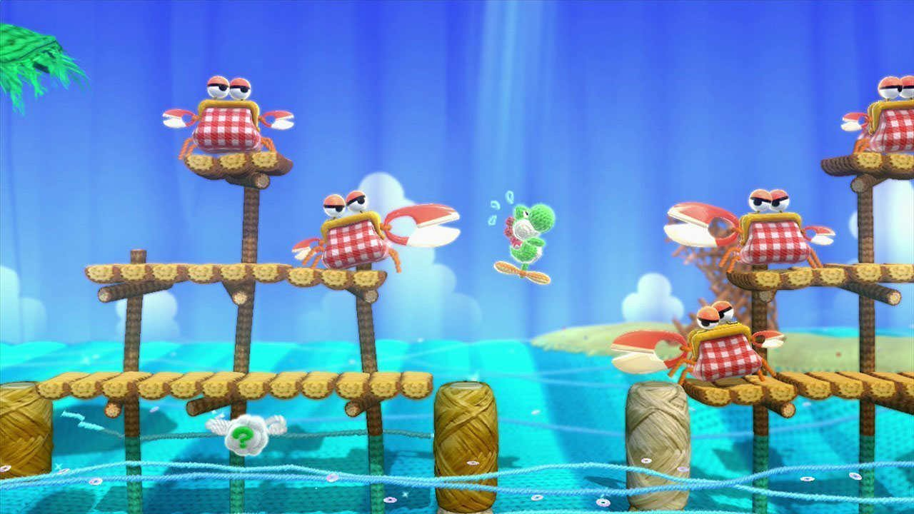 Yoshi Woolly World crab enemies