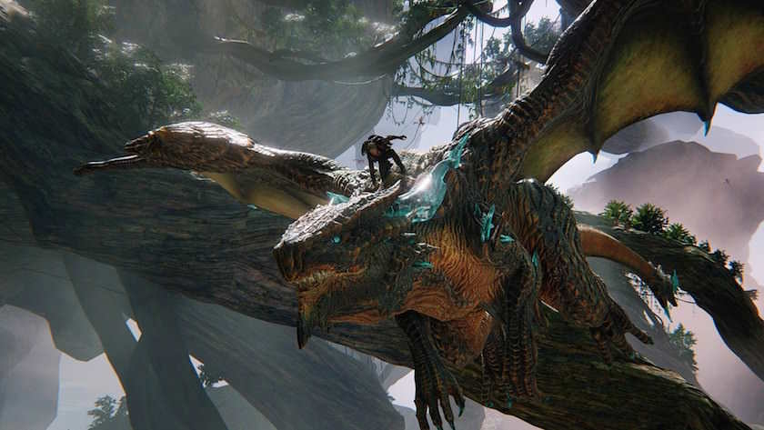 Dinosaur-Flying-With-Trainer-In-Scalebound-Images-04745