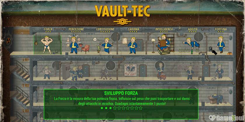 Fallout 4 Guida alle SPECIAL - Caratteristiche (1)