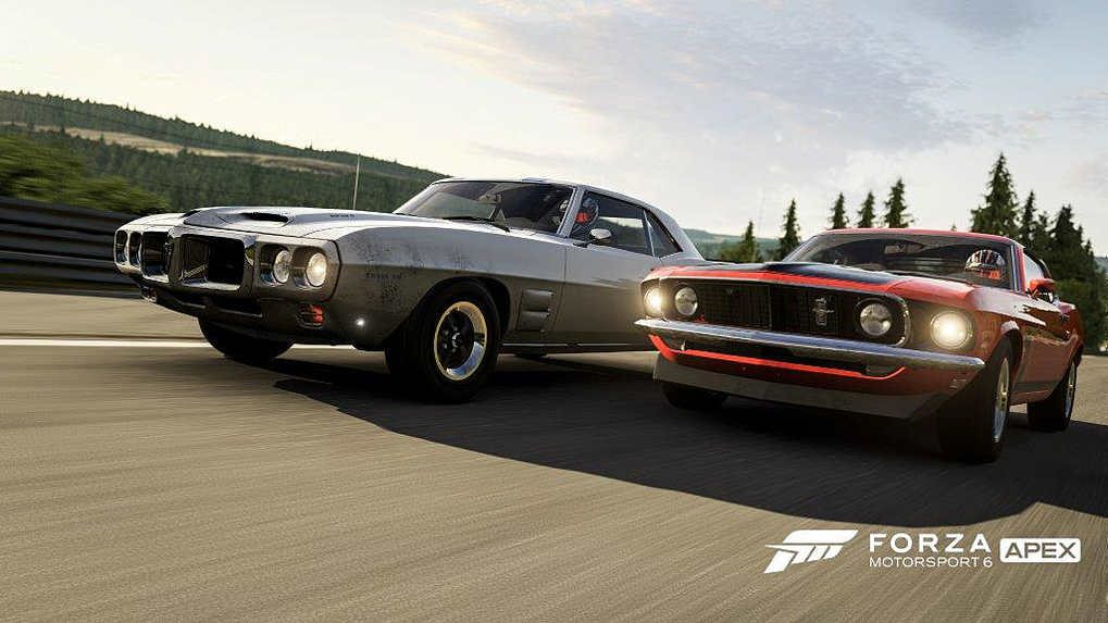 "A screenshot from ""Forza Motorsport 6: Apex,"" which is coming out for Windows 10. Credit: Microsoft"