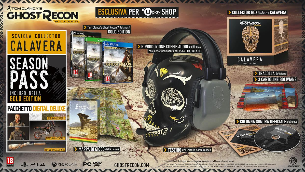 Ghost Recon Wildlands Calavera Collector's Case