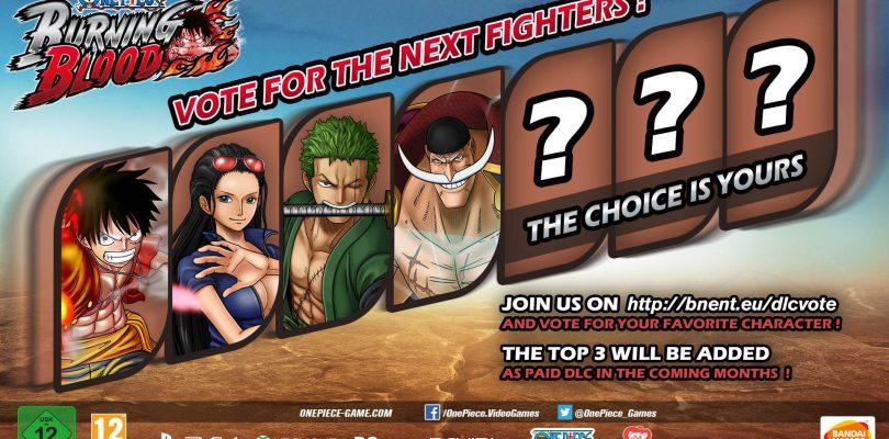 Scegli i nuovi personaggi di One Piece Burning Blood