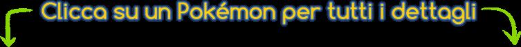 Clicca su un Pokemon per tutti i dettagli