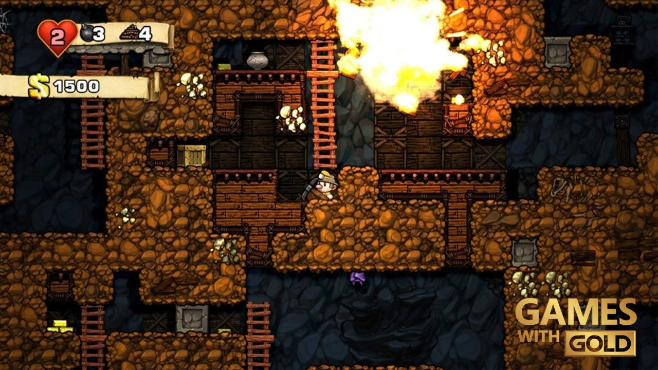 games-with-gold-august-2016-spelunky-gamesoul