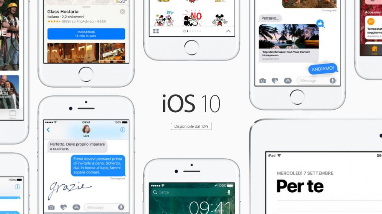 iOS10 è in arrivo per i dispositivi Apple: scopriamolo