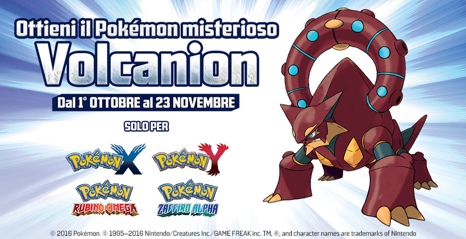 volcanion pokémon sole