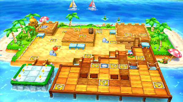 Mario Party Star Beach stage