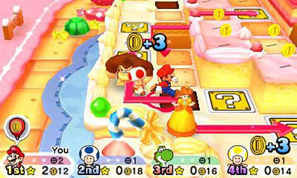 Mario Party Star Rush toad scramble