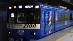 Una metropolitana giapponese a tema Sonic