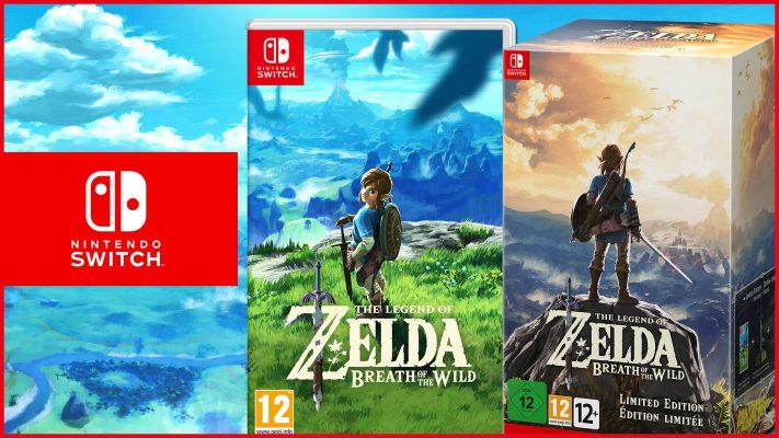 The Legend of Zelda: Breath of the Wild disponibile al lancio di Switch