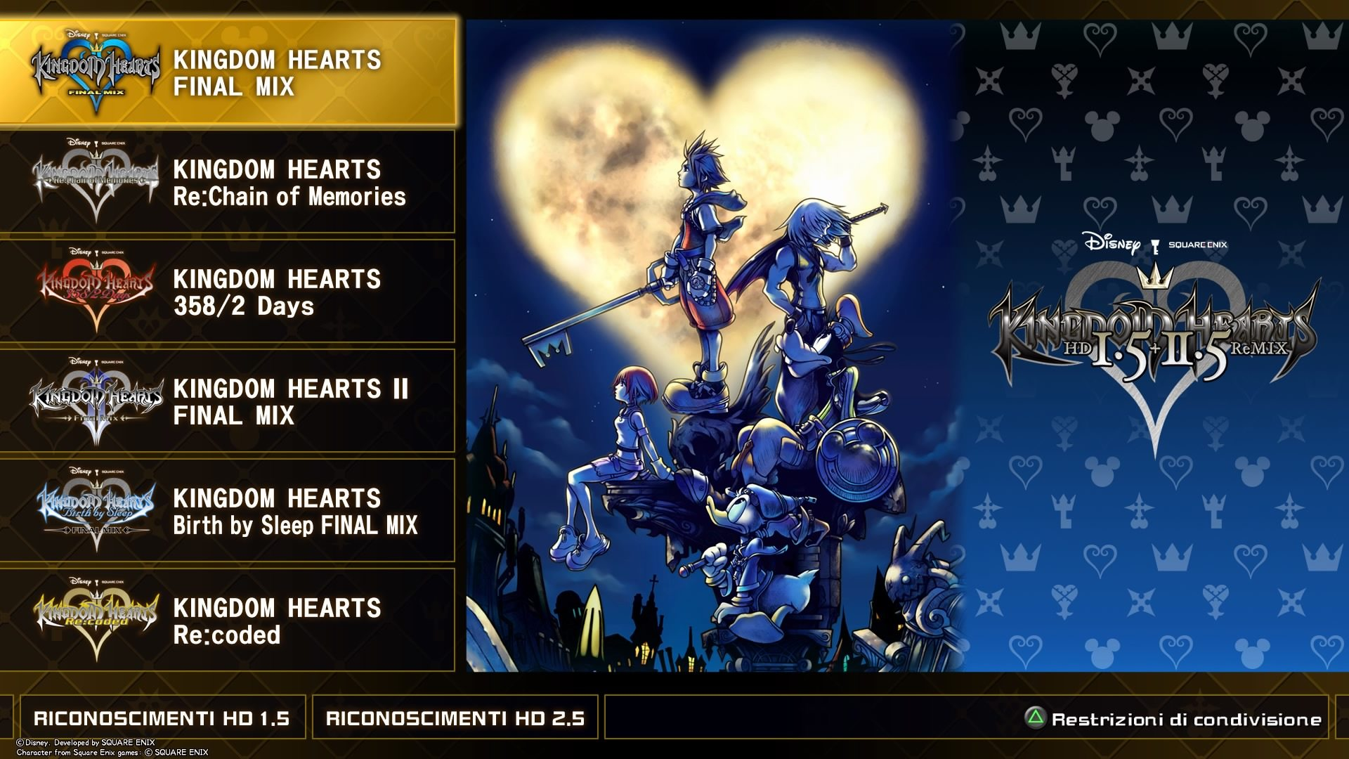 Kingdom Hearts 1.5HD & 2.5HD ReMIX