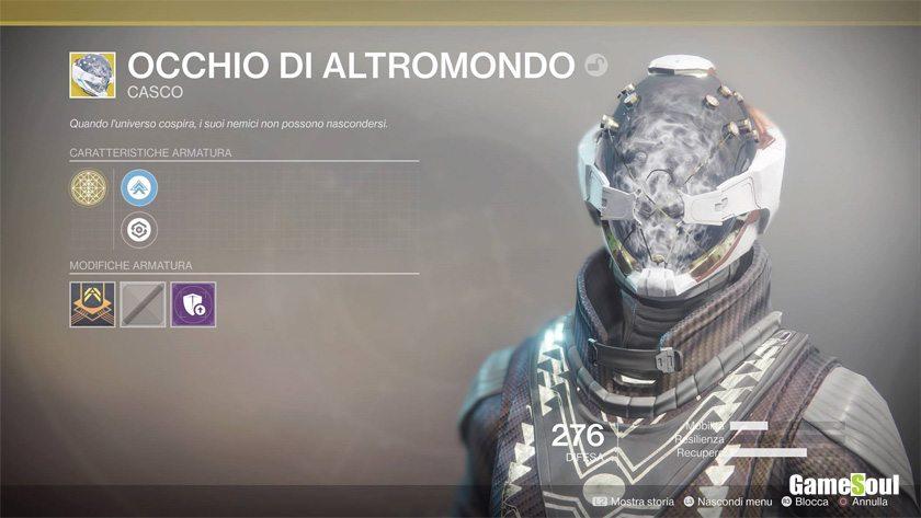 Destiny 2 equipaggiamento esotico: Occhio di Altromondo
