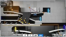 Bridge Costructor Portal gameplay