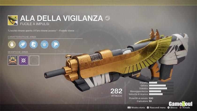 Destiny 2 equipaggiamento esotico: ALA DELLA VIGILANZA